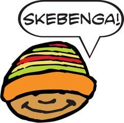 Skebenga: Criminal, gangster or ruffian. Someone up to no good.  Skebenga, South African English, slang, English, language,  usage, South Africa