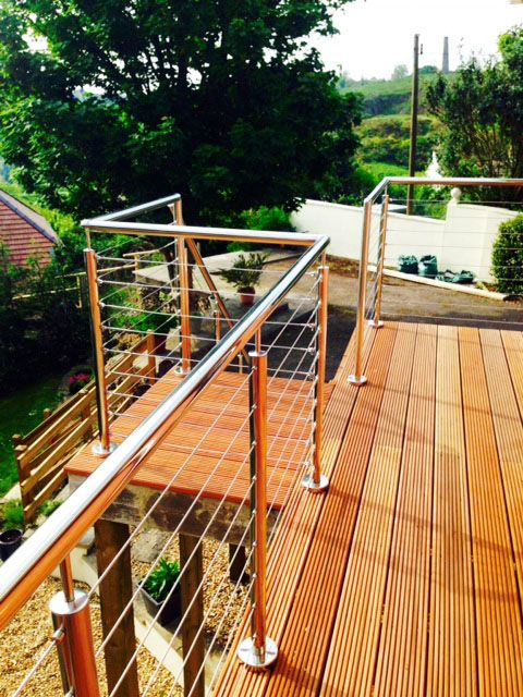 The perfect addition to a domestic property - The Wire Rope System.
