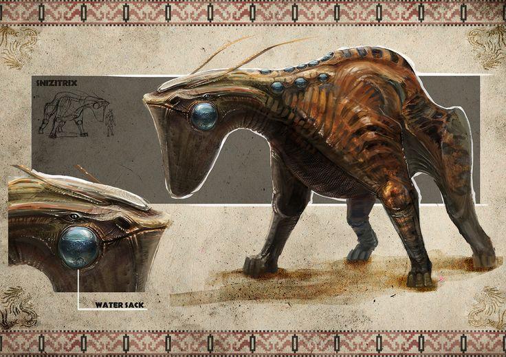 Alien desert planet creatures by Darius Kalinauskas | Sci-Fi | 2D | CGSociety