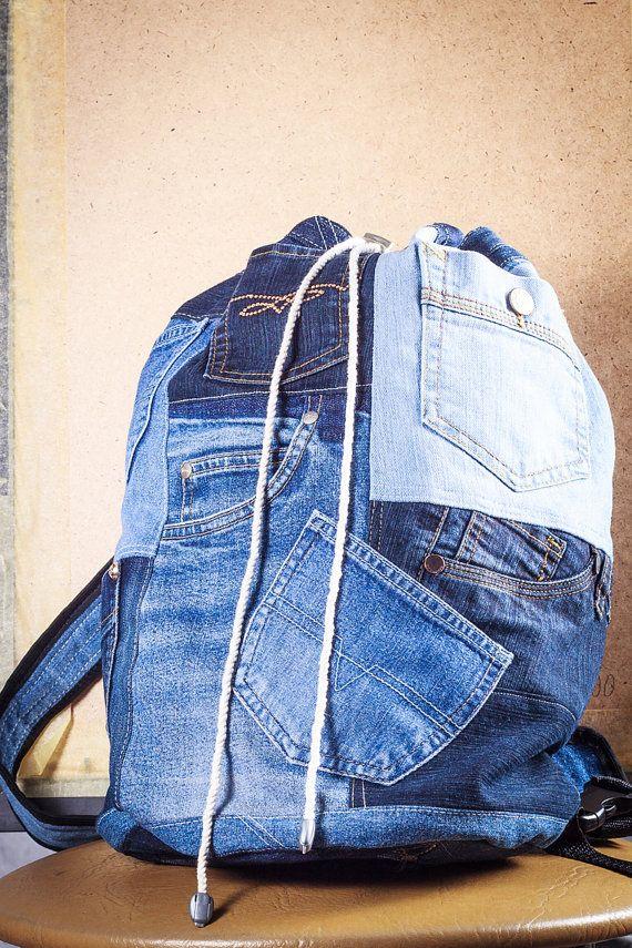 Джинсовый рюкзак Карманы от bRucksack на Etsy