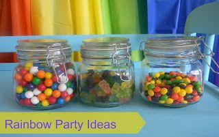 Pams Party & Practical Tips: Rainbow Party Ideas {SO CUTE!}