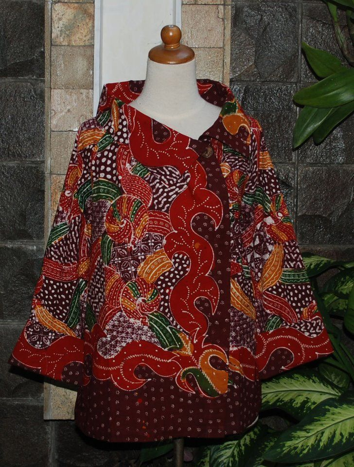 batik madura blouse