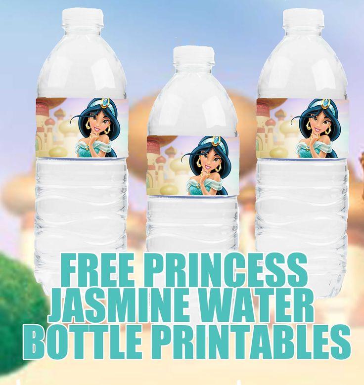 FREE Princess Jasmine Birthday Party Printable Files