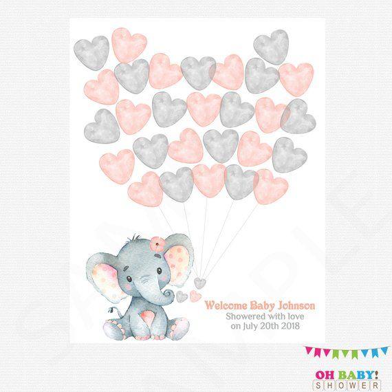 Guest Book Alternative Elephant Baby Shower Guest Book