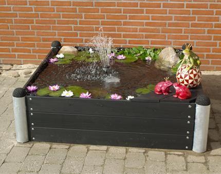 havedam i PIPE blomsterkasse
