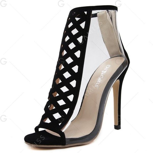 Black 40 Hollow Out Translucent Side Gladiator Sandals (1,440 INR) ❤ liked on Polyvore featuring shoes, sandals, kohl shoes, black shoes, greek sandals, roman sandals and gladiator sandals