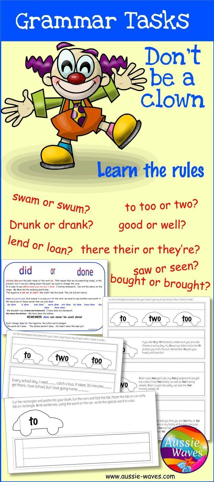 Posters And Task To Teach Students Correct Grammar 20 Common Grammar Errors With Posters And Workshe Grammar Lessons Common Grammar Mistakes Teaching Grammar [ 1620 x 720 Pixel ]