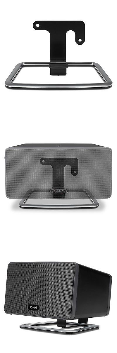 Speaker Mounts and Stands: Flexson Desk Stand For Sonos Play:3 - Single (Black) BUY IT NOW ONLY: $54.0