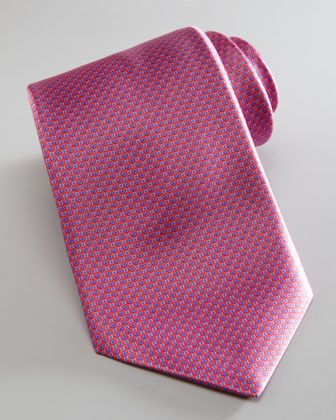 Mini-Neat Silk Tie, Pink/Blue by Stefano Ricci at Neiman Marcus.