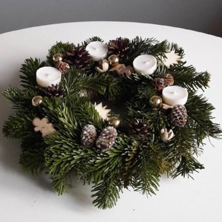 Christmas - Decoration Adventwreath Xmas Nordic Style