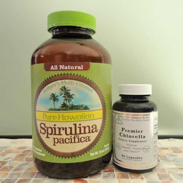 Spirulina vs. Chlorella. Different nutrient values....You'll benefit from taking both.