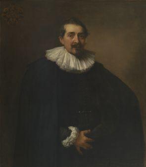 Portret van Alexandre della Faille 1589-1653, secretaris van de stad Antwerpen - Anthony van Dyck