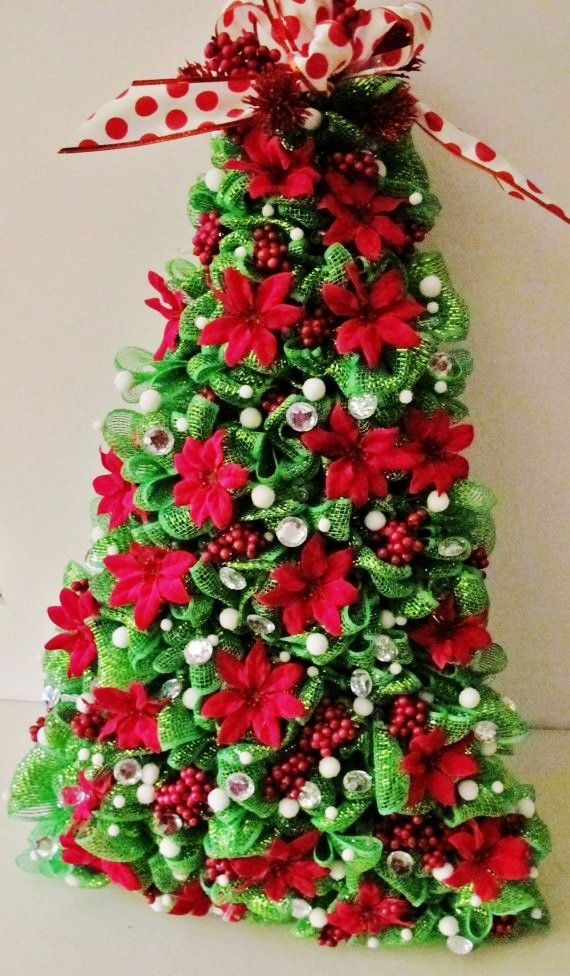 How To Decorate Christmas Tree With Poly Mesh Ribbon : Best mesh christmas tree ideas on origin