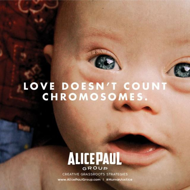Ninety percent of children prenatally diagnosed with Down syndrome are killed…