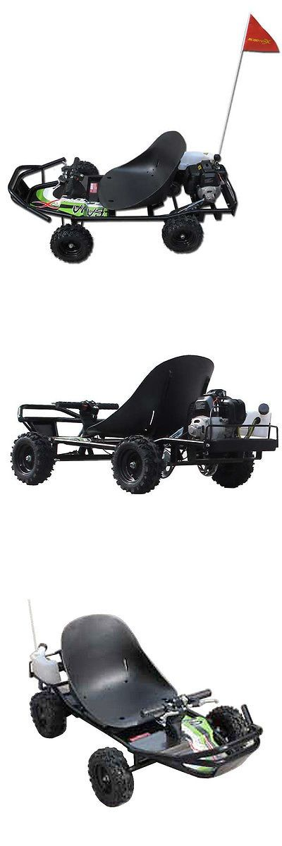 Complete Go-Karts and Frames 64656: Mini Scooterx Baja 49Cc Off Road Go Kart Scooter Cart Black Green Sticker Kit -> BUY IT NOW ONLY: $529.96 on eBay!