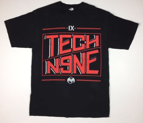 Black-034-Tech-N9ne-034-Strange-Music-T-shirt-M