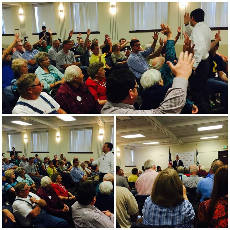 Lots of hands raised in Sheldon, IA when asked who is frustrated w/ GOP leadership—let's break the #WashingtonCartel!