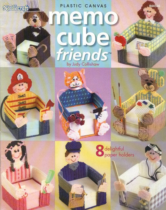 Memo Cube Friends Plastic Canvas Book by needlecraftsupershop, $7.99