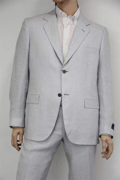 Светло серые льняные костюмы фото