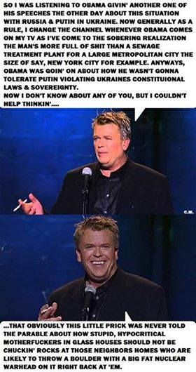Ron White: telling like it is in his own rough language, but right on target.