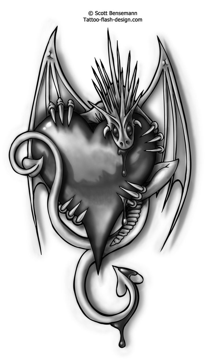 Free-flash-love-dragon-tattoos-greywash.jpg 1,219×2,000 ...