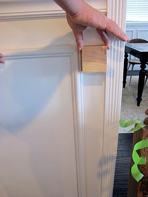 DIY - Wainscoting And Chair Rail.  Good to remember for the dining room.