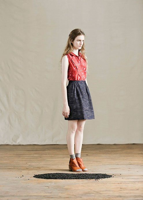 More beautiful clothing designs from Feral Childe--love these mixed prints.