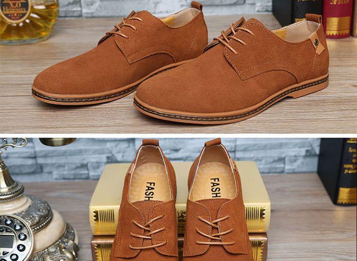 Qoujeily Men Leather Oxfords Shoes Business Man Suede Shoes California Fur & PU Casual Loafers for Men Flats Shoes Plsu Size14.31€-16.99/piece