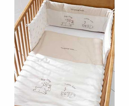 Saplings Animal Cot Bed Bumper Set This Animals cot bed quilt and bumper set range is made from soft cotton fabrics and restful colours. With lovable animals characters in embroidery. this cot bed quilt has a cotton cover with polyeste http://www.comparestoreprices.co.uk/baby-cots-and-cot-beds/saplings-animal-cot-bed-bumper-set.asp