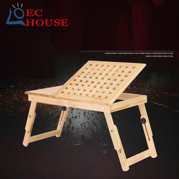 Wood notebook comter folding on the table lazy bed dormitory students learning a small desk. FREE SHIPPING