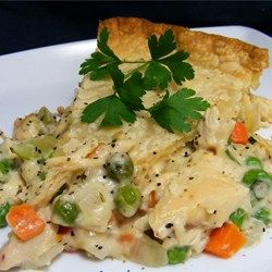 Simple, Classic Chicken Potpie - Allrecipes.com. Reviewers really liked this! Uses Sherry