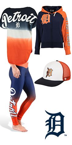 All blue and orange for this Detroit Tigers baseball outfit!