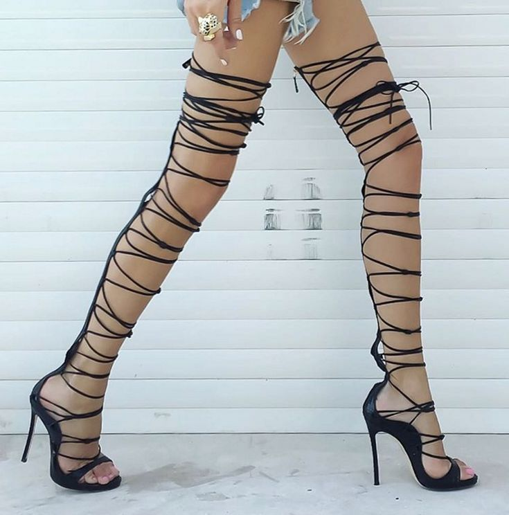 These show stopping gladiator sandals will make a statement where they walk. Pair them with a flirty dress for a hot looking contrast. Made of leather. Heel height 12.5cm Note: Our shoes are custom ma
