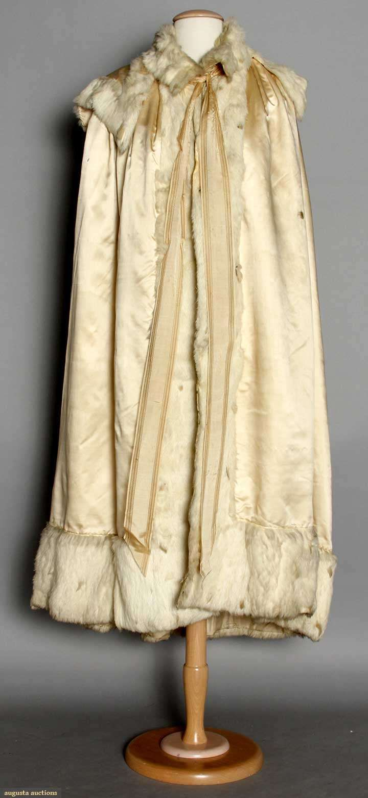Silk & Ermine Evening Cape, 1795, Augusta Auctions, MAY 13th & 14th, 2014, Lot 4