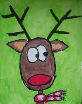 reindeer portraits, shows how to draw them