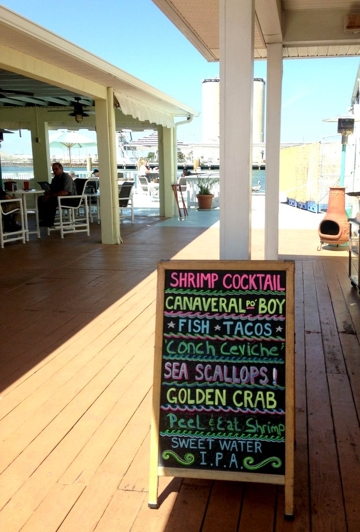 Best Port Canaveral Dining-Waterfront dining at The Cove in Port Canaveral, with something for everyone.