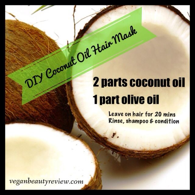 DIY Coconut Oil Hair Mask (for dry & damaged hair)