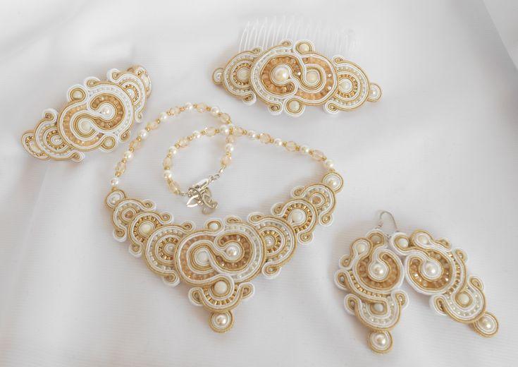 Soutache Parure Elegant - Soutache Jewellery