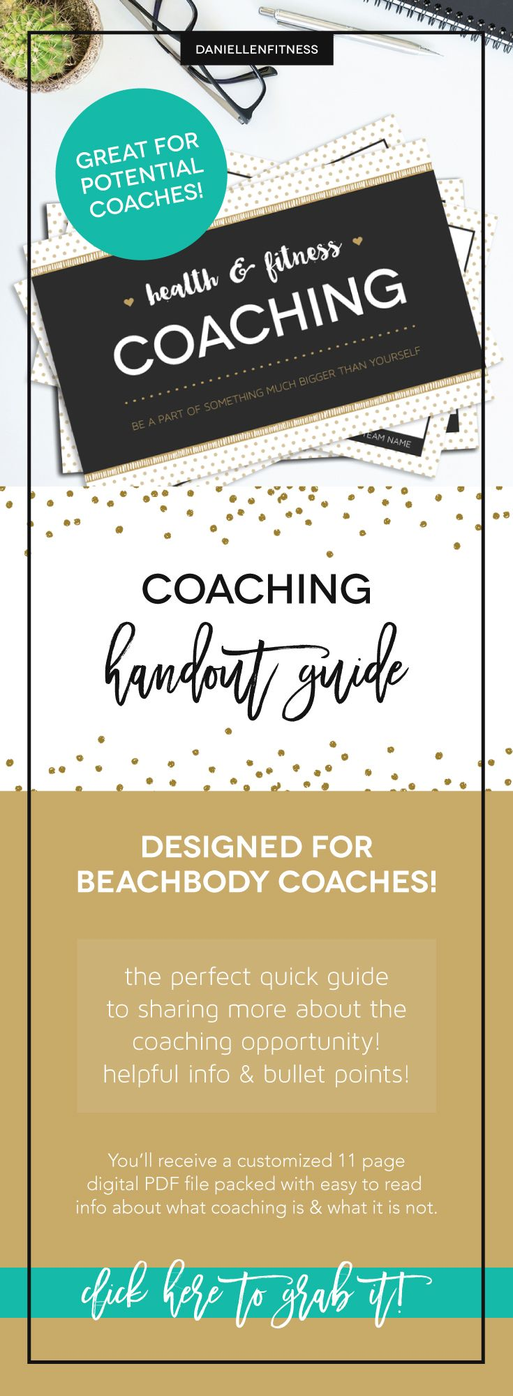 What is coaching? handout guide! Designed specifically for beachbody coaches to use as a great tool to share the opportunity! An 11 page digital file with bullet points about what coaching is along with coach contact info on the back. Comes in 4 different color schemes and is customized with your tag line, team name and contact info. // what is a beachbody coach // coaching info // coaching tool // coaching resource // beachbody coach // beachbody coaching // coaching guide // coach resource…
