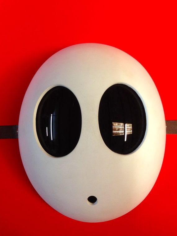 Deluxe Fiberglass Shy Guy Mask by BlackToothCreations on Etsy