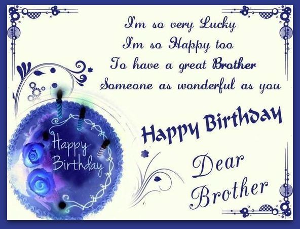 Image Result For Free Happy Birthday Brother Clipart Happy