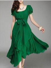 Buy Extraordinary Round Neck  Printed Maxi-dress online with cheap prices and discover fashion Maxi Dresses at Fashionmia.com.