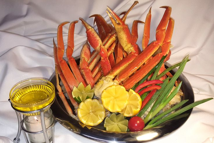 Beautiful Alaskan Snow Crab Legs served with warmed drawn butter. www.boarsheadrestaurant.com