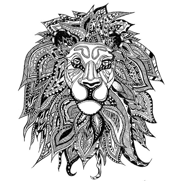 Score Zentangle Lion | Dottinghill: Temporary Tattoos are now Skin-Accessories!