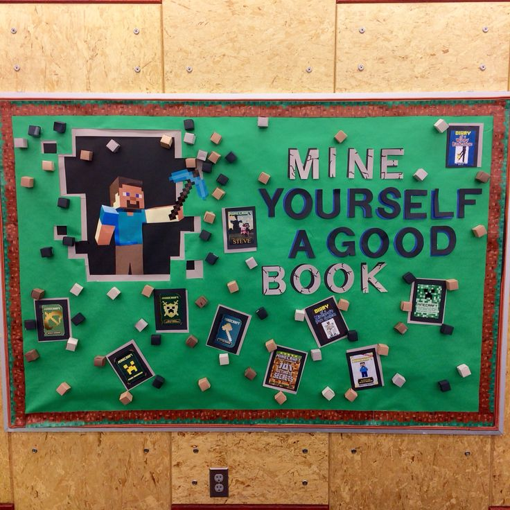 We put this Minecraft bulletin board up in the Young Teen section of my library. Was immediately a hit, met with positive remarks from both…