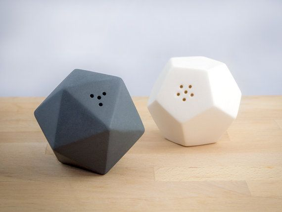 GEO SALT & PEPPER shakers by mgmy on Etsy, $38.00