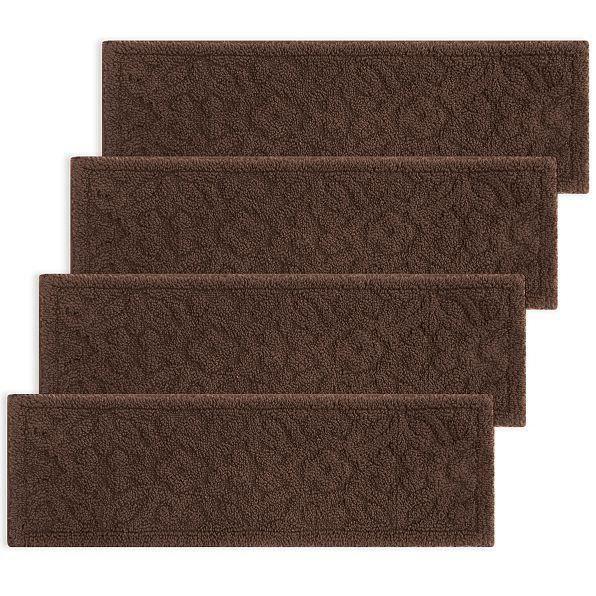 Best 29 Brown Decorative Embossed Stair Treads Set Of 4 Indoor 400 x 300