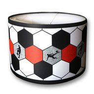 Voetbal lamp rood wit