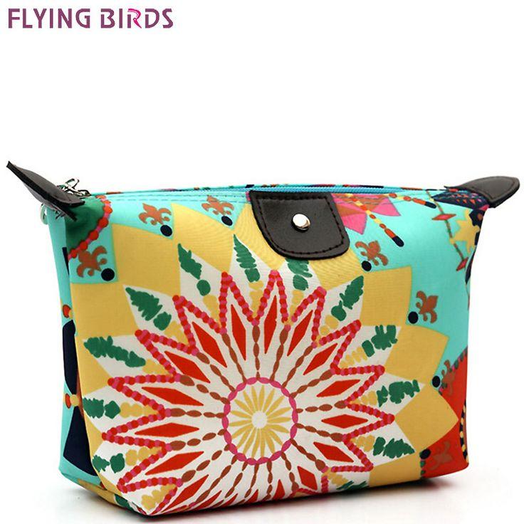 FLYING BIRDS! femmes Sacs À Cosmétiques brosse sac de Maquillage Sac Cosmétique cas Boulette Grand Paquet Étanche Maquillage Sacs mignon LM3132fb