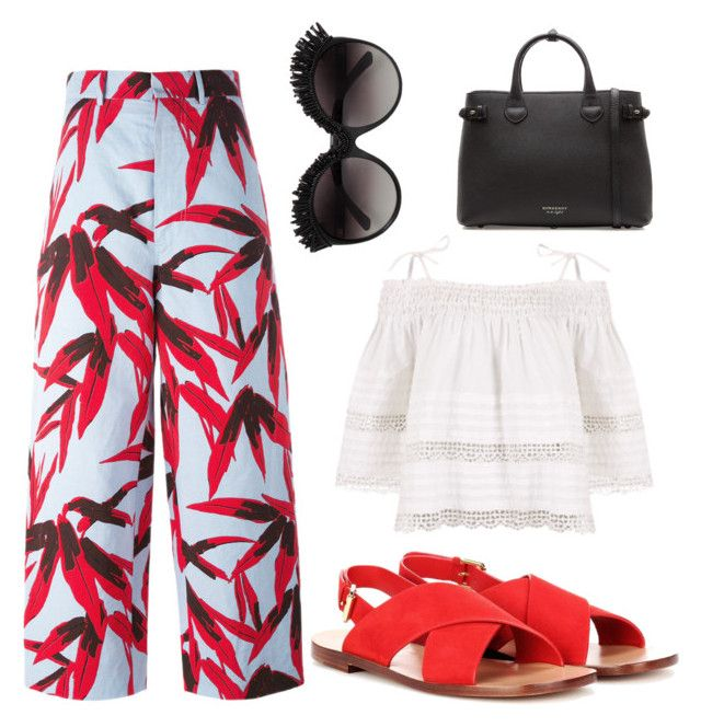 """""""Untitled #191"""" by zsofi-szibilla on Polyvore featuring Marni, Mansur Gavriel and Burberry"""